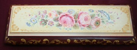 European Flower Watch Box Original Painting