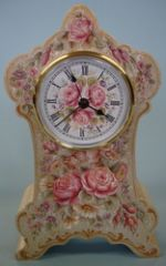 Victorian Clock with European Flowers