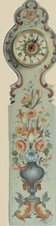 Kallhovd Clock with Valdres Flowers. Pattern Packet