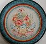 Anniversary Plate with Valdres Rosemaling